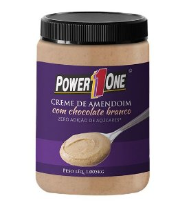 Creme de Amendoim com Chocolate Branco (1Kg) - Power one