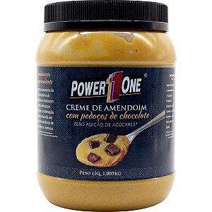Creme de Amendoim com Pedaços de Chocolate (1Kg) - Power one