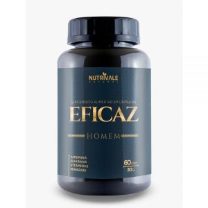 Eficaz Homem - Estimulante 60 cápsulas - Nutrivale Natural
