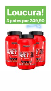 Kit 03 Potes - Super Whey 3w 2721g total - Integralmedica