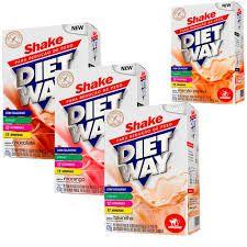 Kit 4x Shakes p/ redução de peso Diet Way 420g cada - Midway