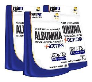 Kit 3x Albuminas + Biotina 1Kg cada - Profit Laboratórios