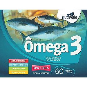 Omega 3 EPA + DHA 1000mg - 60 caps - Nutrivale