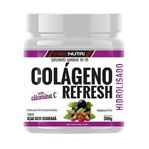 Colágeno Hidrolisado 300g c/ Vitamina C - Fisionutri