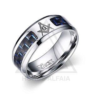 Aliança Esquadro Compasso Color - Azul