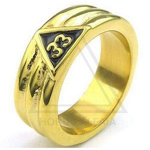 Anel Maçônico Grau 33 Dourado