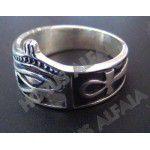 Anel Olho de Horus - Prata Maciça