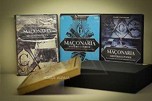 Caixa para DVD's com 3 Inclusos - Maçonaria