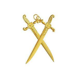 Joia de Guarda do Templo REAA Dourada
