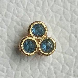 Pin Três Pontos azuis