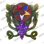 Quadro Entalhado OEO Cacho de uva