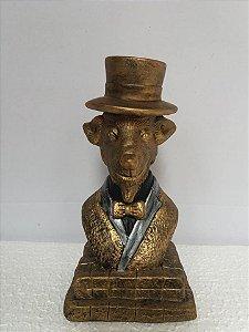 Estatua Bode em gesso dourado