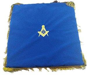 Almofada  em tecido veludo azul royal
