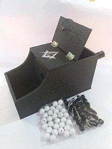 Caixa de escrutínio modelo americano (com 60 esferas)