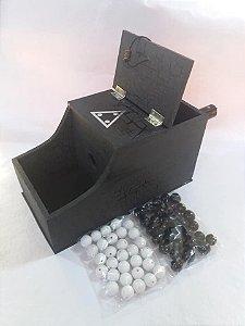 Caixa de Escrutínio Modelo americano(acompanha 60 esferas)