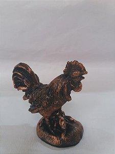 Estatua mini galo em gesso  bronze