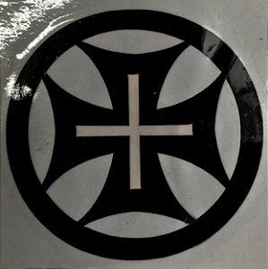 Adesivo templario preto redondo