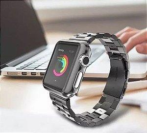 Pulseira Aço Inoxidável Preta Apple Watch 42mm