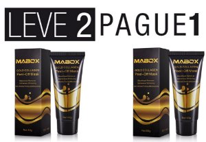 Máscara Ouro 24k -Tratamento  Anti-Ruga  Acne e Oleosidade + Brinde Compre 1 e Ganhe outra Grátis