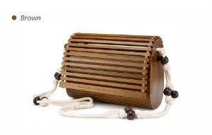 Bolsa Cult Woods Love Shoulder Brown - Ecológica