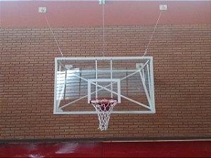 Tabela de basquete 1,80 X 1,05 mt em vidro temperado 10 mm