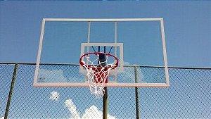 Tabela de basquete 1,80 X 1,05 mt  em acrílico incolor 10 mm