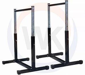 Barra paralela de chão com regulagem de altura de 0,50 até 1mt