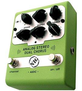 Pedal Nig Dual Chorus Analog Stereo Guitarra Baixo Violão Asdc