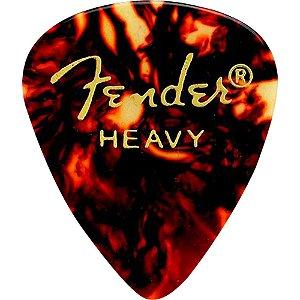 Palheta Fender Heavy Tortoise Shape 351 Classic Guitarra