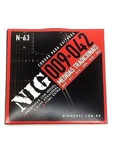 Corda Encordoamento Guitarra 09 Nig N63 6 Cordas