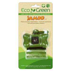 Kit Porta Saquinhos Biodegradáveis Eco Green com 2 rolos