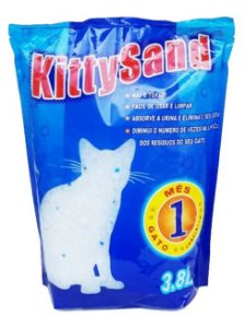 Areia Sanitária Sílica Gel Kitty Sand para Gatos 3,8 L (1,5 kg)