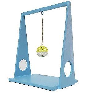 Brinquedo para Gatos Balança Bolinha Azul