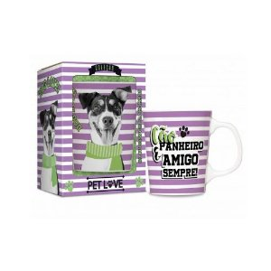 Caneca Porcelana Premium Pets Fox Cachorro 280ml