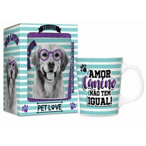 Caneca Porcelana Premium Pets Cachorro Golde 280ml