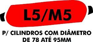 E - Camisa molhadora tipo MANCHÃO L5/M5 para cilindros com diâmetro de 78 A 95 mm