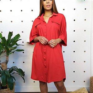 Vestido Mulher Moderna Vermelho