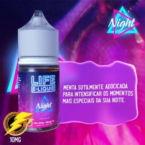 Nic Salt Night Strong Menthol 30mL - Life E-liquid
