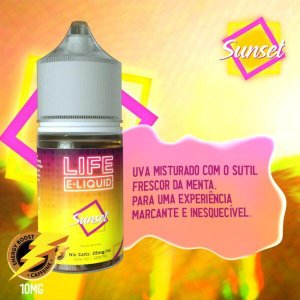 Nic Salt Sunset Grape Menthol 30mL - Life E-liquid