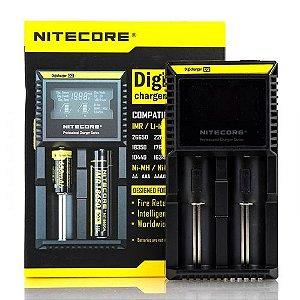 Carregador Nitecore D2 Baterias Vape - Nitecore