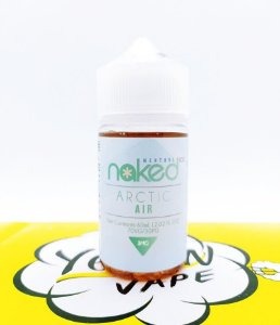 Naked Arctic Air 60mL - Naked 100 Menthol