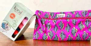 Kit bolsa impermeável Cactus rosa+ Kit moderado Conforto Seco