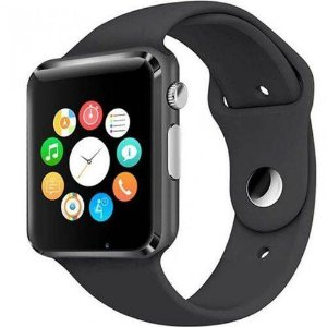 RELÓGIO SMARTWATCH A1 PRETO TOUCH BLUETOOTH GEAR CHIP