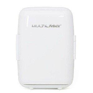Mini Geladeira 6L Branca 12V 127V Capacidade 4 Garrafas de 600ML com Cabo DC Branca Multilaser - TV011