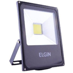 Refletor power led 30w  bivolt preto sem sensor - Elgin