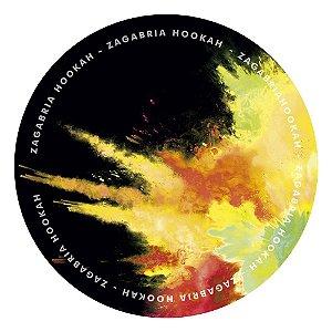 Tapete Zagabria Hookah Smoke - Amarelo e Vermelho