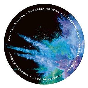 Tapete Zagabria Hookah Smoke - Azul, Verde e Roxo