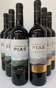 KIT COM 03 Terras de Pias Reserva 750 ml + 03 Terras de Pias Regional 750 ml