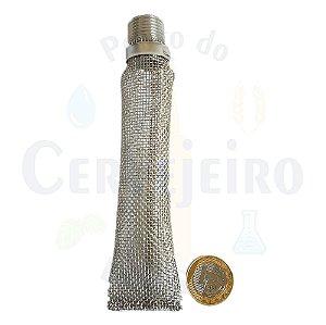 Bazooka (bazuca, bazuka) de inox 304 de 15 cm - 1/2 MNPT, tela 16