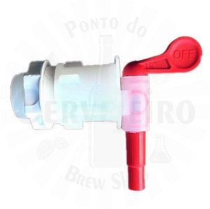 """Torneira Plastica Modelo 28E rosca macho 3/4"""" para fermentador"""